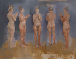 nude study for sculpture oil on linen fr