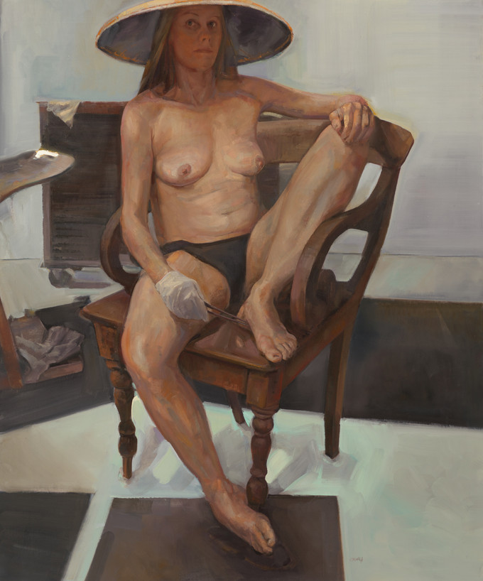 """I am Woman"" highly commended in the 2017 Doug Moran portrait prize"