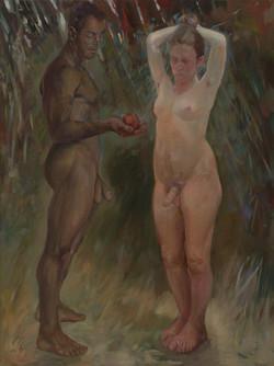 Adam and Steve 122 x 91cm oil on linen f