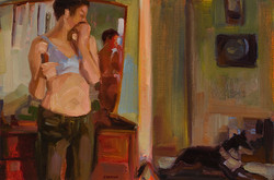 The afternoon 180 x 280mm oil on canvas paper