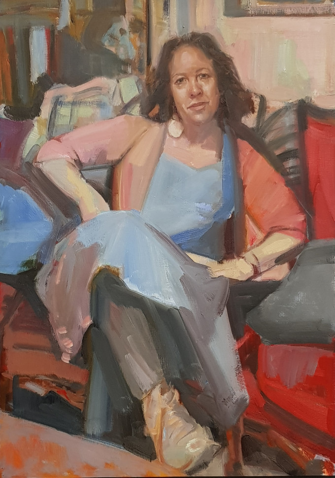 Dagmar's portrait of Wendy Sharpe wins the RSASA Portrait Prize