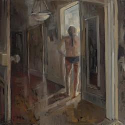 A few rooms oil on linen framed 40 x 40c