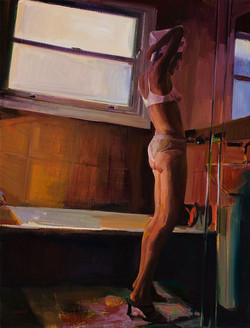 Getting ready 880 x 660mm oil on linen