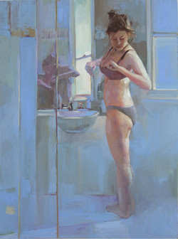Doing what a girl has to 122 x 91cm oil on cotton