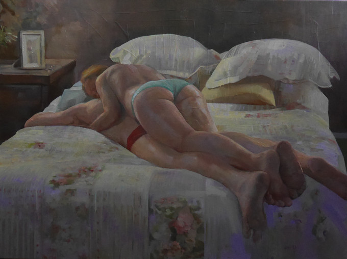 Dagmar's painting 'Grateful' is a finalist in the 2021 Naked & Nude art prize