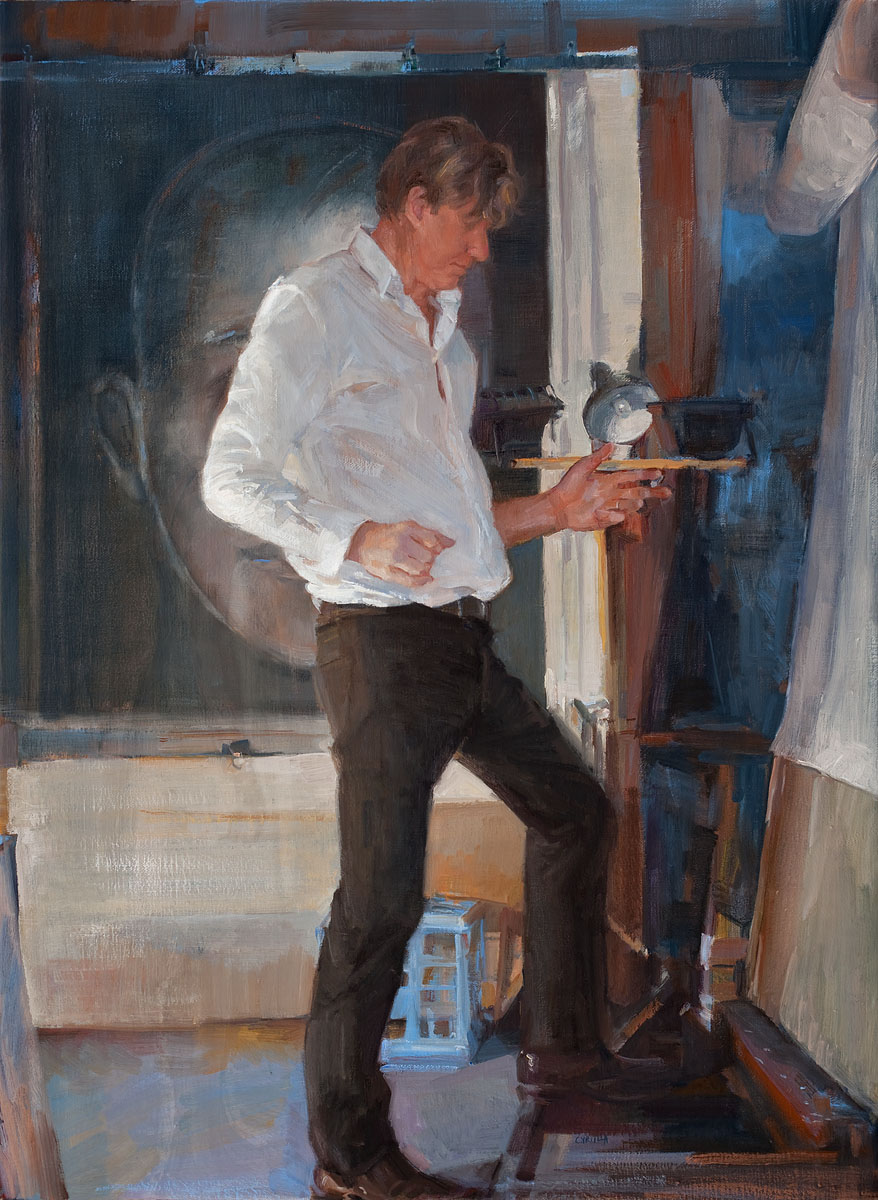 The performer I oil on linen 97 x 72cm