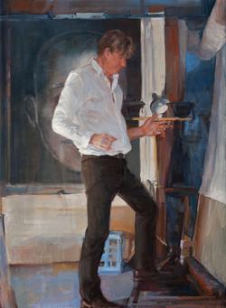 The performer I oil on linen 97 x 72cm