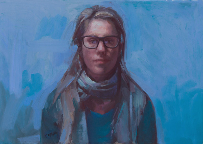 Dagmar is a finalist in the Percival Portrait Painting Prize