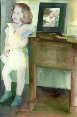 The newborn watercolour study 200 x 130mm 2010_