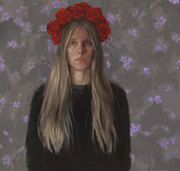 ode_to_Frida_I_self_portrait_oil_on_line
