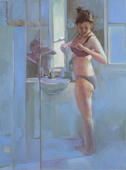 Doing what a girl has to 122 x 91cm oil