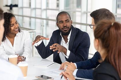 iStock-1139630453 -- team discussion --