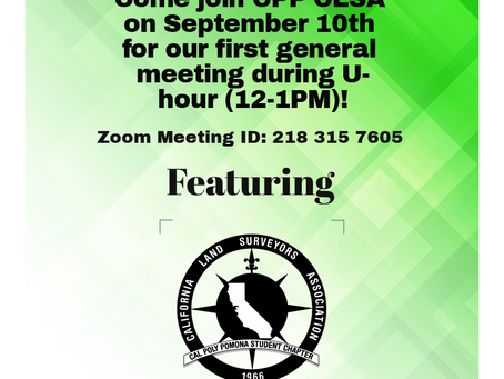 1st General Meeting Announcement