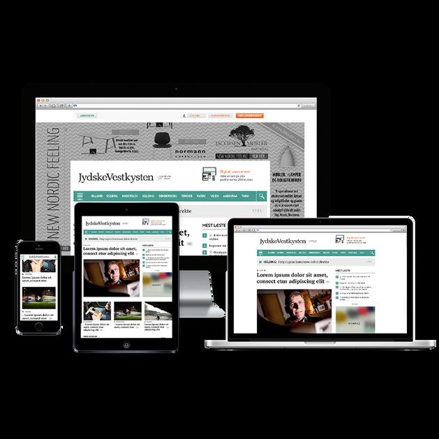 jv.dk - Media site responsive webdesign