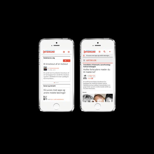 Kommunikationsforum - Mobile website