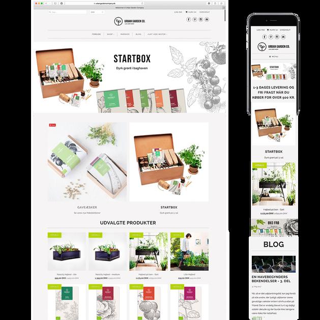Urban Garden Company - e-commerce