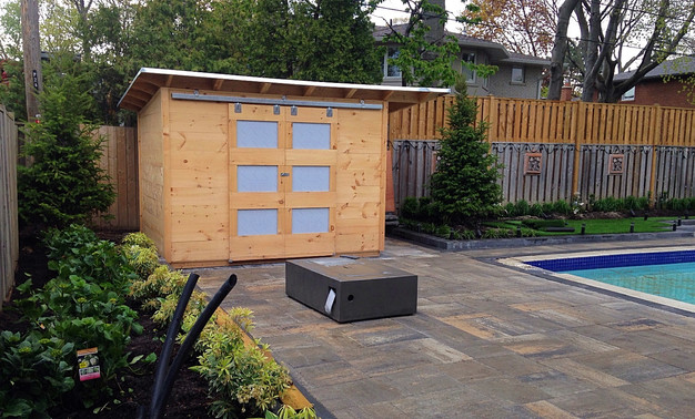 Custom BBQ and Relax Shed build in a day Backyard Escape Studios