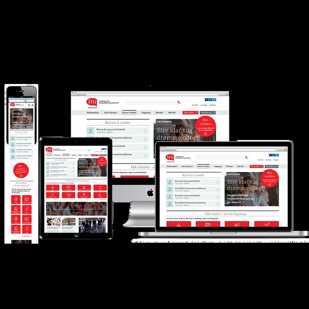 MA A-kasse responsive design