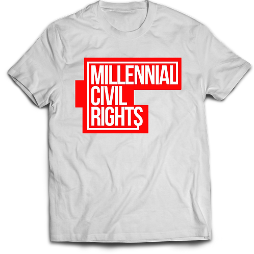 Millennial Civil Rights White and Red T-Shirt