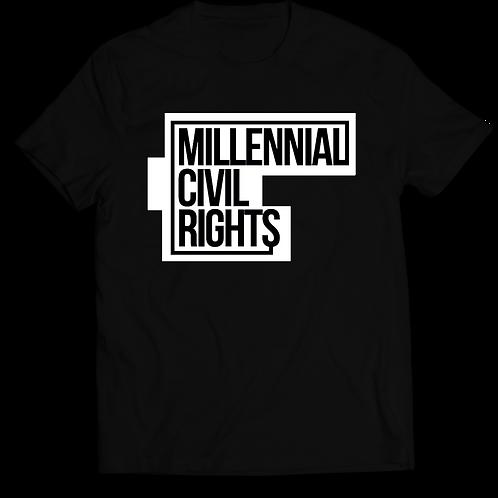 Millennial Civil Rights Black T-Shirt