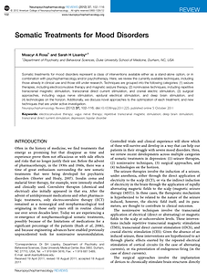 Somatic Treatments for Mood Disorders -