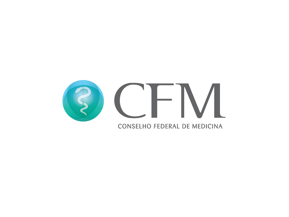 Logotipo do CFM em Casa da Psiquiatria