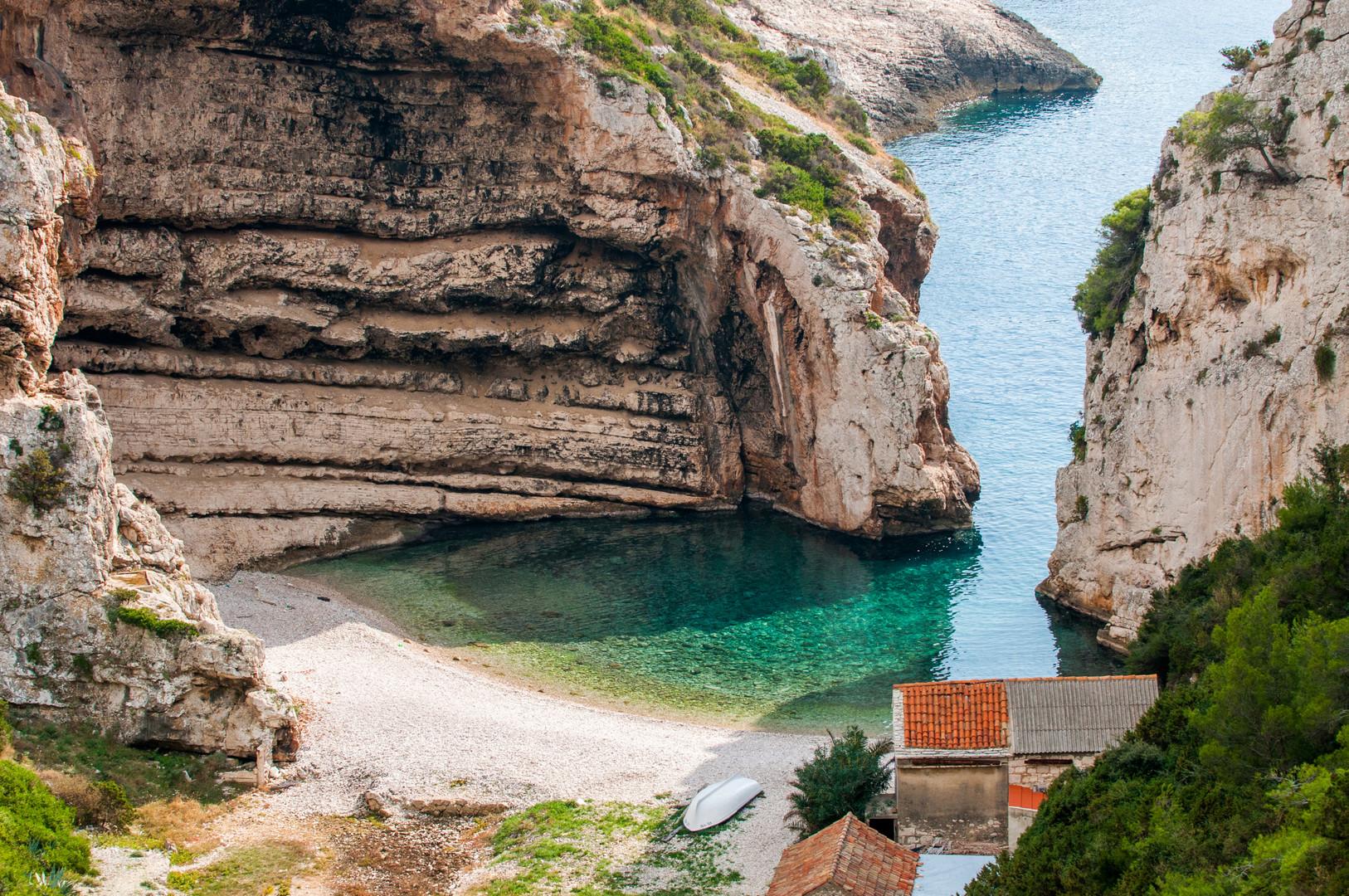 Stiniva bay in Croatia