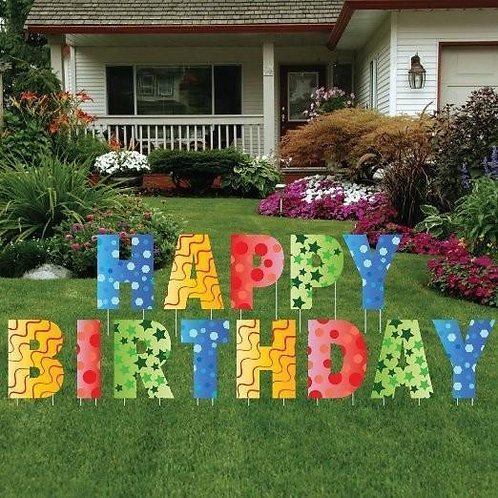 "18"" Happy Birthday Yard Card Design"