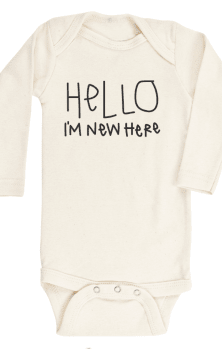 Hello I am Here Baby Onsie