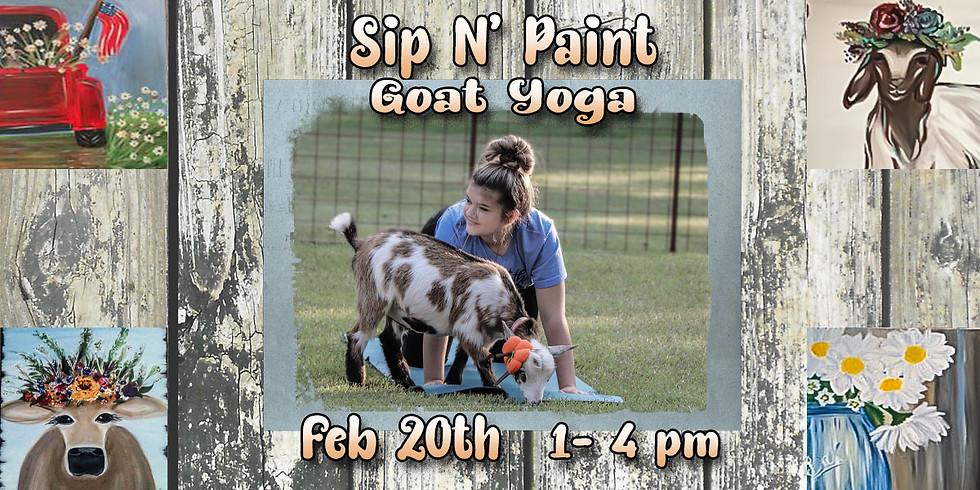 Sip N' Paint Goat Yoga