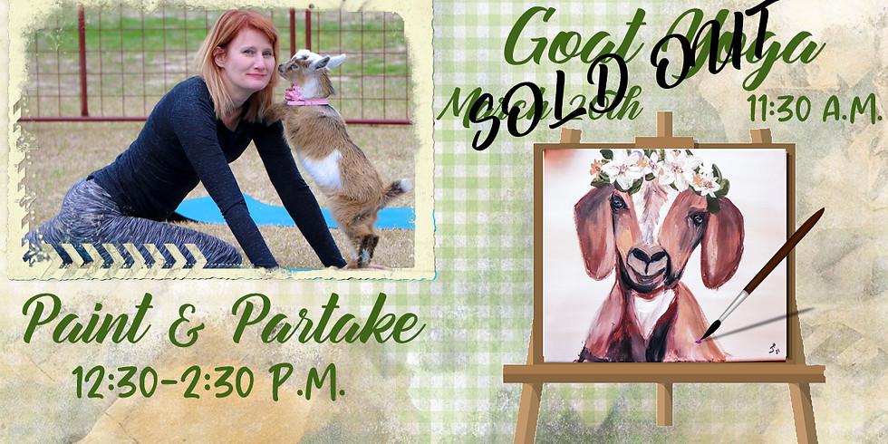 Goat Yoga Paint & Partake