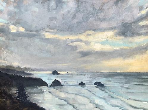 """Canon Beach from Ecola Park 11X14"""""""