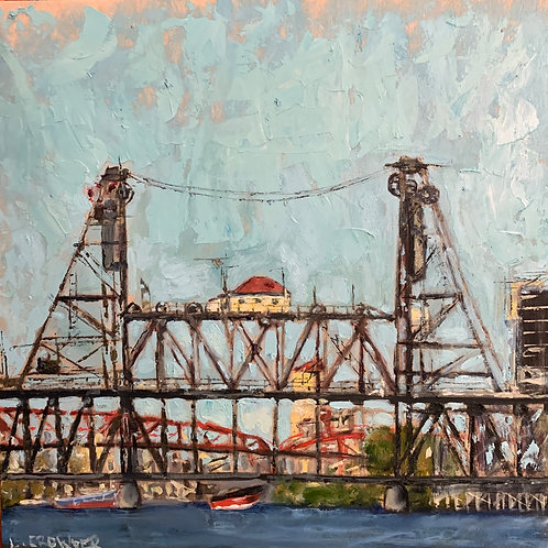 "Steel Bridge 12X12""SOLD"