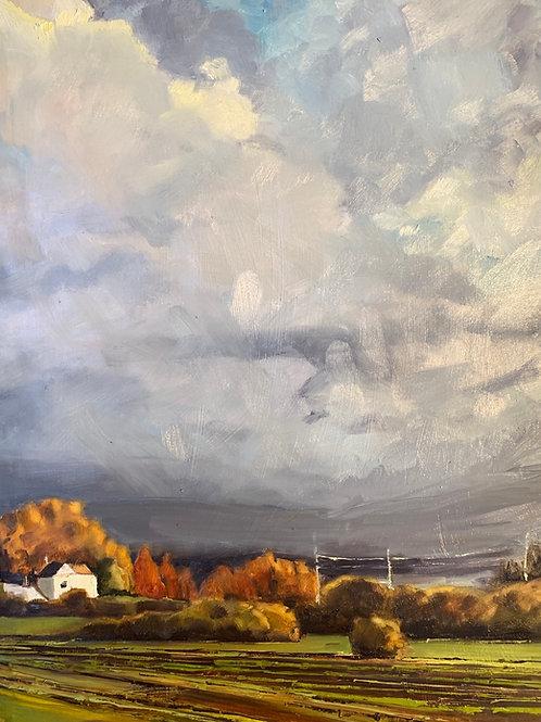 "Early Autumn at Luscher Farm 11X14"" SOLD"