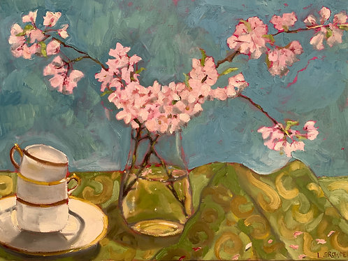 "Plum Blossoms and Tea 18X24"""