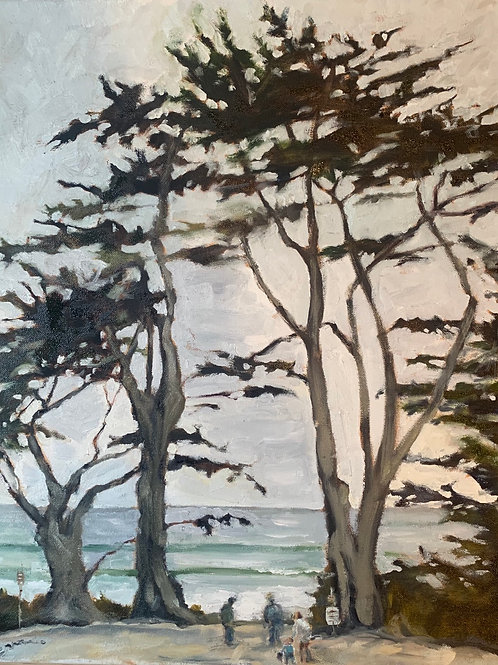 Sunday Morning in Carmel 20X16""
