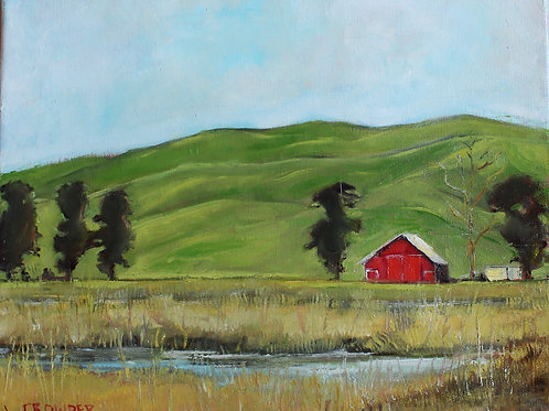 "San Luis Obispo Farm 11X14"" SOLD"