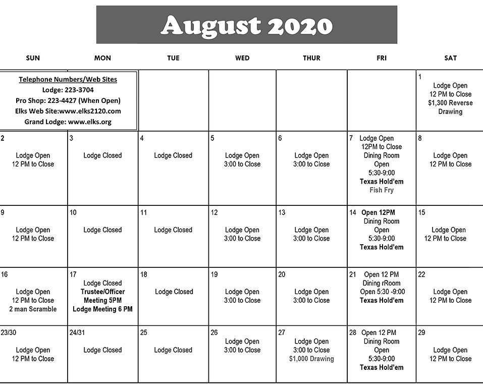 2020 Elks August calendar.png