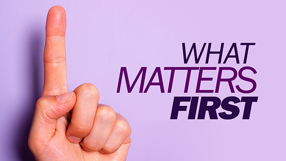What Matters First - 3 PT ( CD ) Series