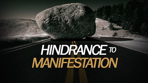 HINDRANCE TO MANIFESTATION 2 PT ( MP3 )