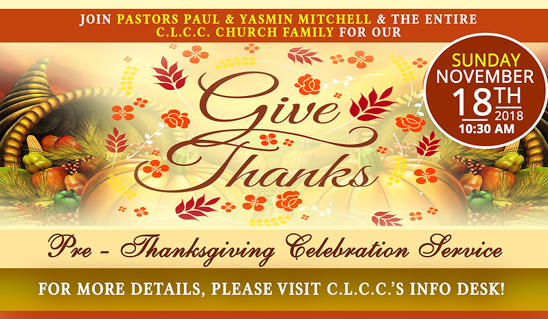 Pre Thanksgiving Celebration Service 201