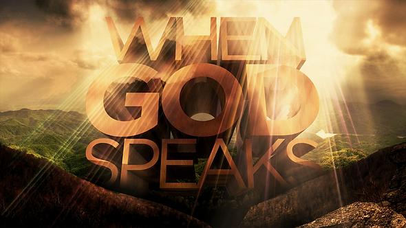 WHEN GOD SPEAKS - 2 PT ( MP3 ) SERIES