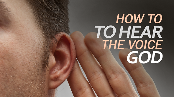 HOW TO HEAR THE VOICE OF GOD - 4 PT ( MP3 ) SERIES