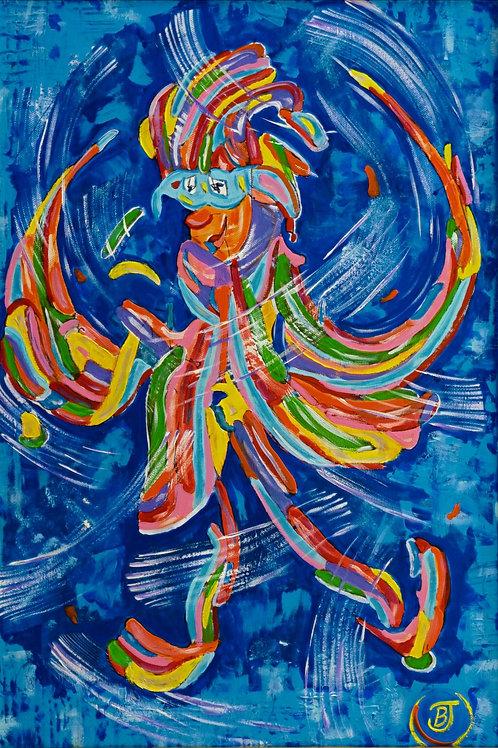 "Картина ""Птица счастья, карнавал"""