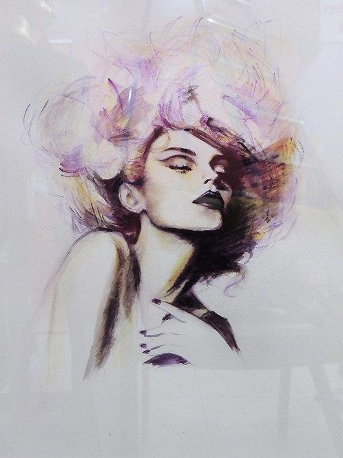 """Картина """"Желание"""", бумага, акварель, 39 х 49"""