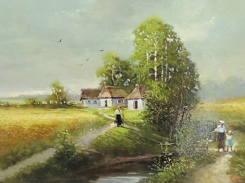 "Картина ""Деревенская тропинка"", 30 х 40 см, холст, масло"