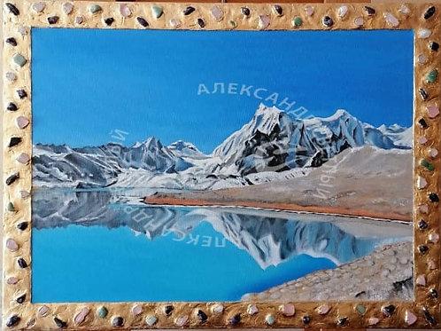 """Картина """"Центральный Тибет - У Озера"""", 60 х 80 см, холст, масло"""