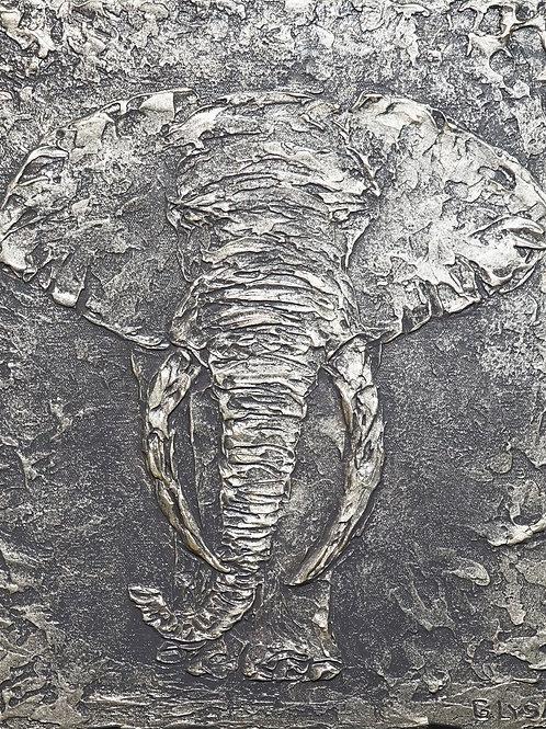 """Картина """"Стальной слон"""", 70 х 90 см., холст, акрил"""