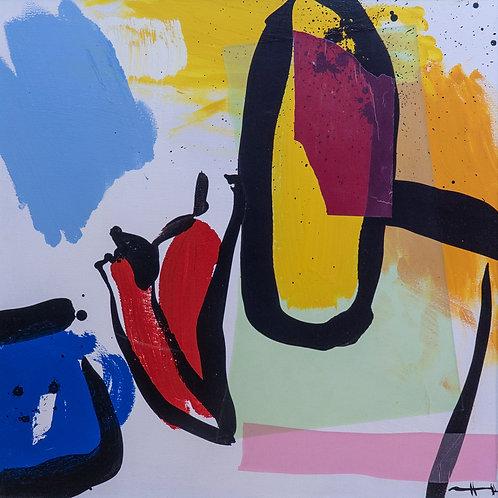 """Картина """"Паприка и вино"""", 60 х 60 см, холст, смешанная техника"""