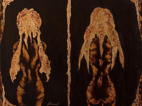"Картина ""На Той Стороне"", 100 х 120 см, холст, масло"
